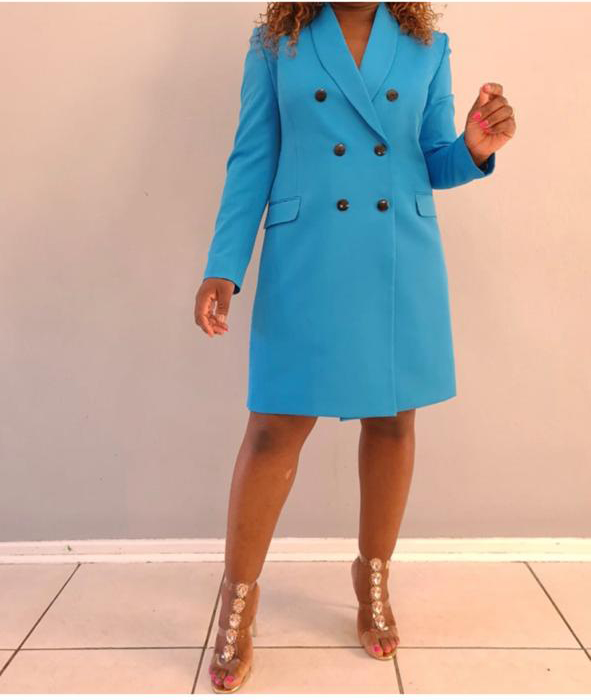 Light Blue Dress (Available in All Colors) : R1050